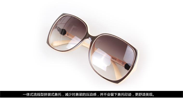 诗维达12062P16深咖乳白全框时尚板材偏光太阳镜