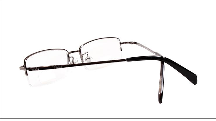 华伦金盾白色半框合金老花镜X6203-138