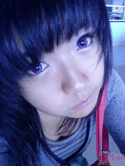 博士伦水灵焕彩水晶紫月抛美瞳彩色隐形眼镜2片装