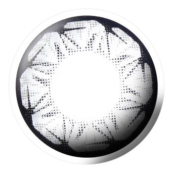 Bescon星钻系列美瞳彩色隐形眼镜平光(0度)2片装-半年抛-灰色