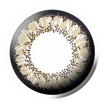 Bescon双色水晶系列美瞳平光(0度)2片装-半年抛-棕色