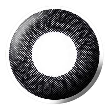 Bescon三色润彩系列大直径美瞳平光(0度)2片装-半年抛-黑色