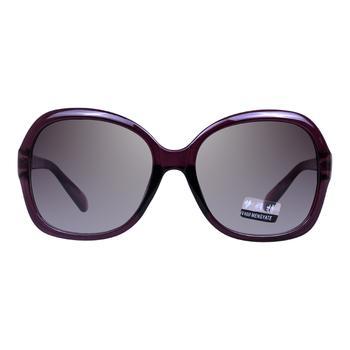 夢雅特紫色女款全框時尚板材太陽鏡1329