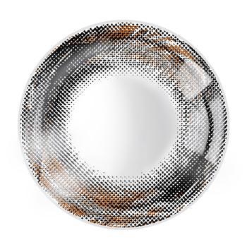 JUST COLOR美瞳彩色隐形眼镜年抛(X410)-漩涡の羽-彩黑