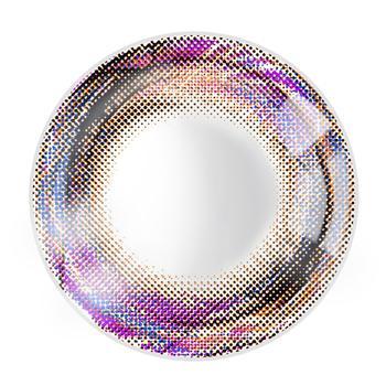 JUST COLOR美瞳彩色隐形眼镜年抛(X410)-漩涡の羽-彩棕
