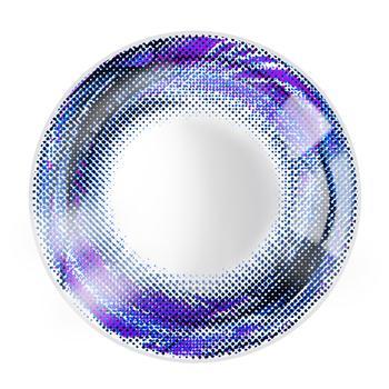 JUST COLOR美瞳彩色隐形眼镜年抛(X410)-漩涡の羽-彩蓝
