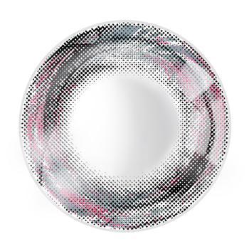 JUST COLOR美瞳彩色隐形眼镜年抛(X410)-漩涡の羽-彩灰